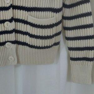 Chunky GAP cotton striped  cardigan- xs petite